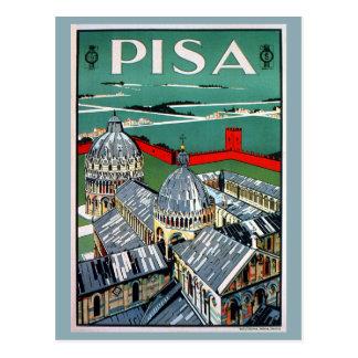 Viaje italiano de Pisa de los años 20 del vintage Tarjetas Postales