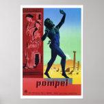 Viaje italiano de Pompeya del vintage Impresiones