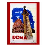 Viaje italiano de Roma Roma del vintage Postal