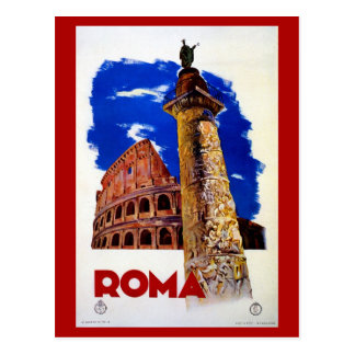 Viaje italiano de Roma Roma del vintage Postales