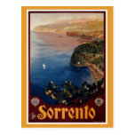 Viaje italiano de Sorrento de los años 20 del Postal