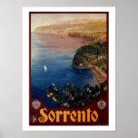 Viaje italiano de Sorrento de los años 20 del vint Impresiones