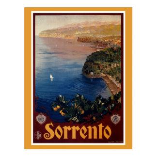 Viaje italiano de Sorrento de los años 20 del vint Tarjeta Postal