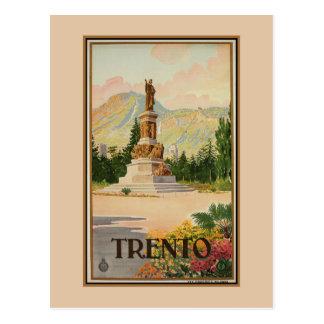 Viaje italiano de Trento Trent del vintage Tarjetas Postales