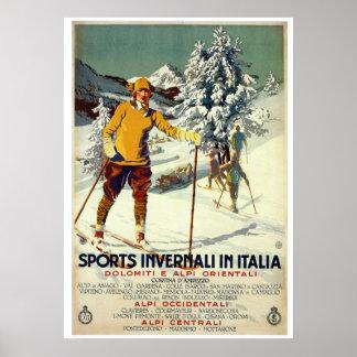 Viaje italiano del anuncio de los deportes de invi impresiones