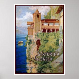 Viaje italiano del convento de Maggiore del lago d Poster