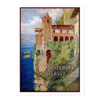 Viaje italiano del convento de Maggiore del lago Tarjetas Postales