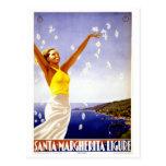 Viaje italiano del vintage de Santa Margherita Postales