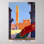 Viaje italiano del vintage del ~ de Siena del ~ de Poster