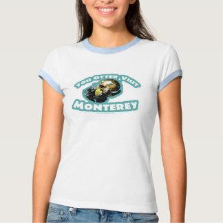 Viaje lindo de la nutria de Monterey Playeras