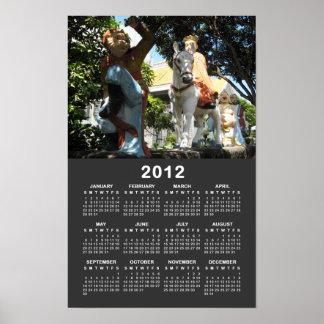 Viaje [magia del mono] al calendario del oeste 201 posters
