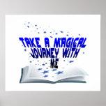 Viaje mágico en un libro posters