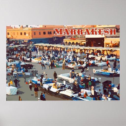 Viaje Marrakesh Póster