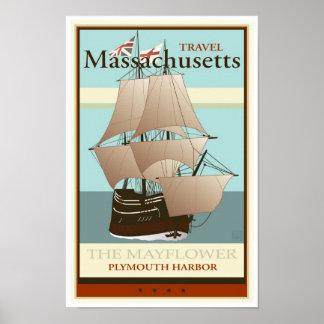 Viaje Massachusetts Póster