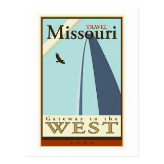 Viaje Missouri Tarjeta Postal
