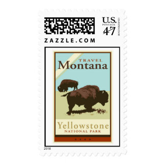 Viaje Montana Sello Postal