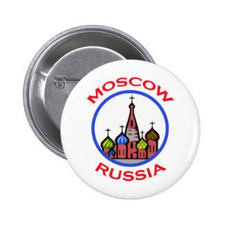 VIAJE MOSCÚ RUSIA PIN REDONDO 5 CM