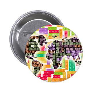 Viaje mundial chapa redonda 5 cm