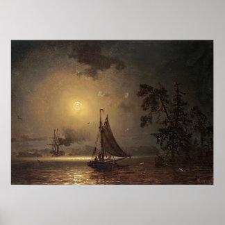 Viaje nocturno de Ivan Aivazovsky Poster