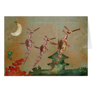 Viaje Notecard del claro de luna de los dragones d