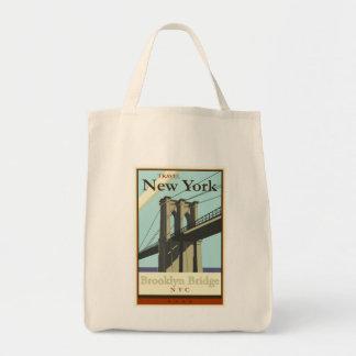 Viaje Nueva York Bolsa Lienzo