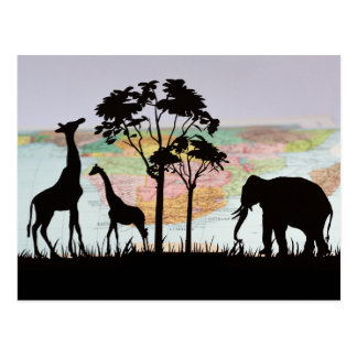 Viaje para ver animales africanos postal
