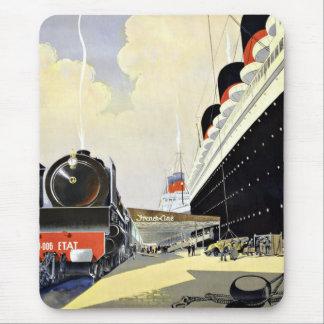 Viaje París Havre Nueva York del vintage Alfombrilla De Ratón