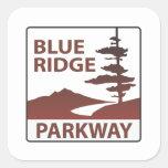 Viaje por carretera azul de la carretera de la calcomanías cuadradass