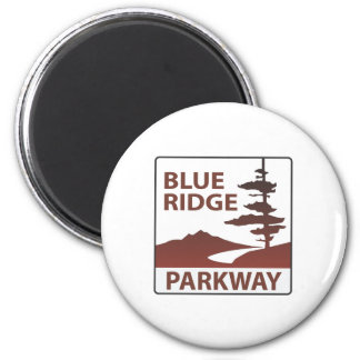 Viaje por carretera azul de la carretera de la rut imán redondo 5 cm