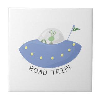 Viaje por carretera azulejos ceramicos