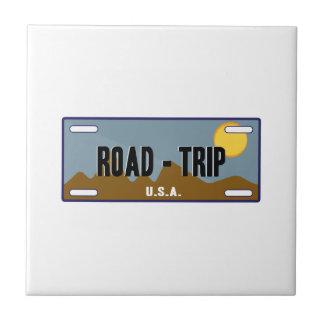 Viaje por carretera teja  ceramica