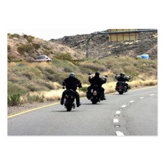 Viaje por carretera de la motocicleta - trío del tarjetas de visita grandes