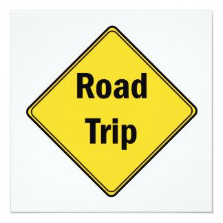 """Viaje por carretera de la muestra de camino invitación 5.25"""" x 5.25"""""""