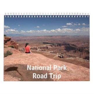 Viaje por carretera del parque nacional calendarios