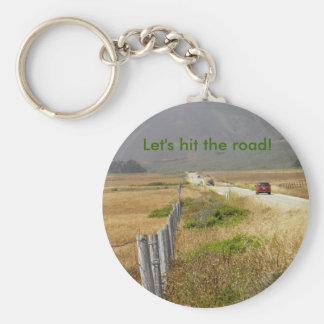 viaje por carretera en California Llavero Redondo Tipo Pin