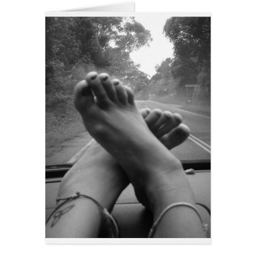 Viaje por carretera felicitación