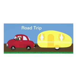 """Viaje por carretera invitación 4"""" x 9.25"""""""