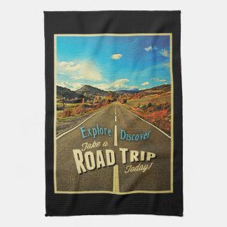 Viaje por carretera toallas