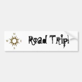¡Viaje por carretera! Pegatina para el parachoques Pegatina Para Auto