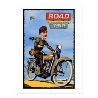 Viaje por carretera postal