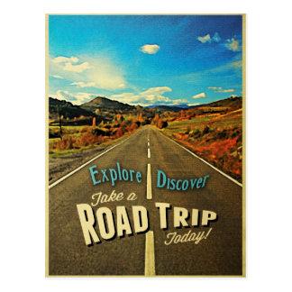 Viaje por carretera tarjetas postales