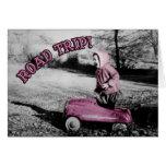 ¡Viaje por carretera! tarjeta - rosa fuerte w/temp