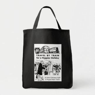 Viaje por el bolso de ultramarinos del ferrocarril bolsa tela para la compra