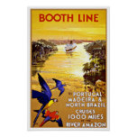 Viaje Portugal del vintage al Amazonas por Poster