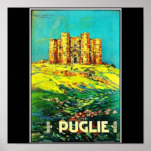 Viaje-Puglie del Poster-Vintage Póster