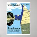 Viaje retro de Marion St Augustine del fuerte del  Impresiones