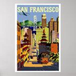 Viaje retro de San Francisco del vintage Póster