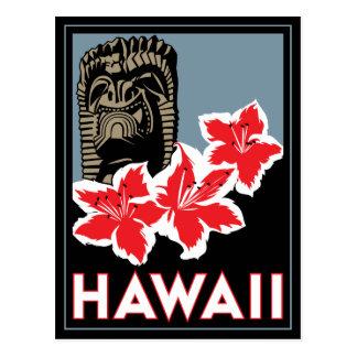 viaje retro del art déco de Hawaii Estados Unidos Postal