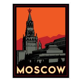 viaje retro del art déco de Moscú Rusia el Kremlin Postales