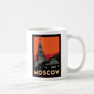 viaje retro del art déco de Moscú Rusia el Kremlin Taza De Café